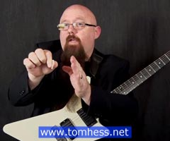 Tom Hess Demonstrates Sweep Picking Technique
