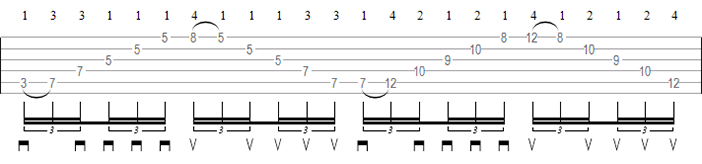 Sweep picking exercise