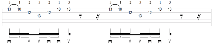 Sweep picking arpeggio exercise
