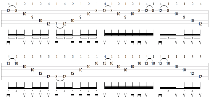 Sweep picking arpeggios