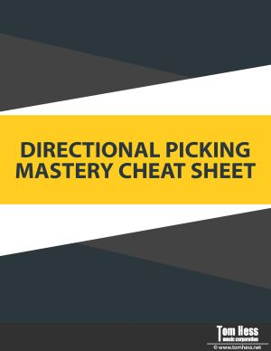 Guitar directional picking cheat sheet