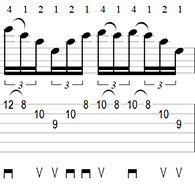 A Minor Sweep Picking Arpeggio Tab 3