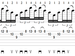 A Minor Sweep Picking Arpeggio Tab 2