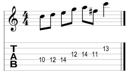 Guitar lick variations