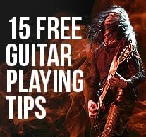 15 Free Guitar Playing Tips