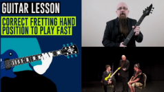 Tom Hess Teaching Fretting Hand Position For Guitar