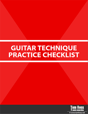 Guitar technique practice checklist