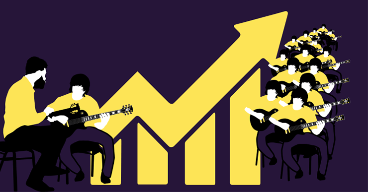 How to make money teaching guitar
