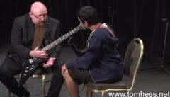 Tom Hess Teaching How To Use Sweep Picking With Scales