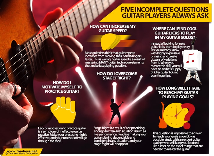 5 Incomplete Questions Guitar Players Ask