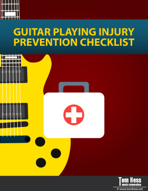 Guitar playing injury prevention