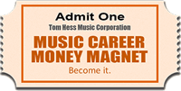 Ticket For A Friend To Attend Music Career Money Magnet Course
