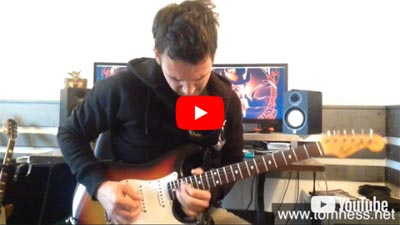 Online Guitar Student Of Tom Hess Jure Golobic Playing Guitar