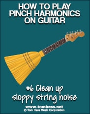 how to play clean pinch harmonics on guitar