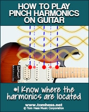 Where to play pinch harmonics on guitar