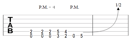 Riff with pinch harmonic