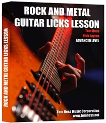 Tom Hess Rock And Metal Guitar Licks Lesson