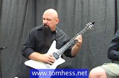 Tom Hess Playing Blues Guitar Licks