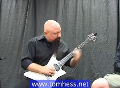 Tom Hess Playing Blues Guitar