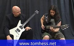 Tom Hess Showing Student How To Play Guitar Clean