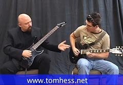 Tom Hess Teaching Lead Guitar To A Student