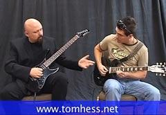 Tom Hess Teaching Lead Guitar To A Student