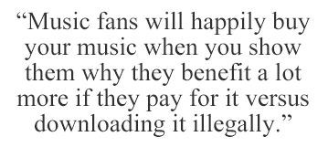 Your music fans will buy yout music when