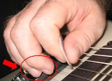 Muting Guitar Strings With Picking Hand
