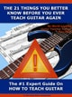 The 21 Things You Better Know About How To Teach Guitar Before You Ever Teach Guitar Again